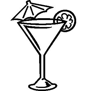 Martini glass martini clip art free clipart image