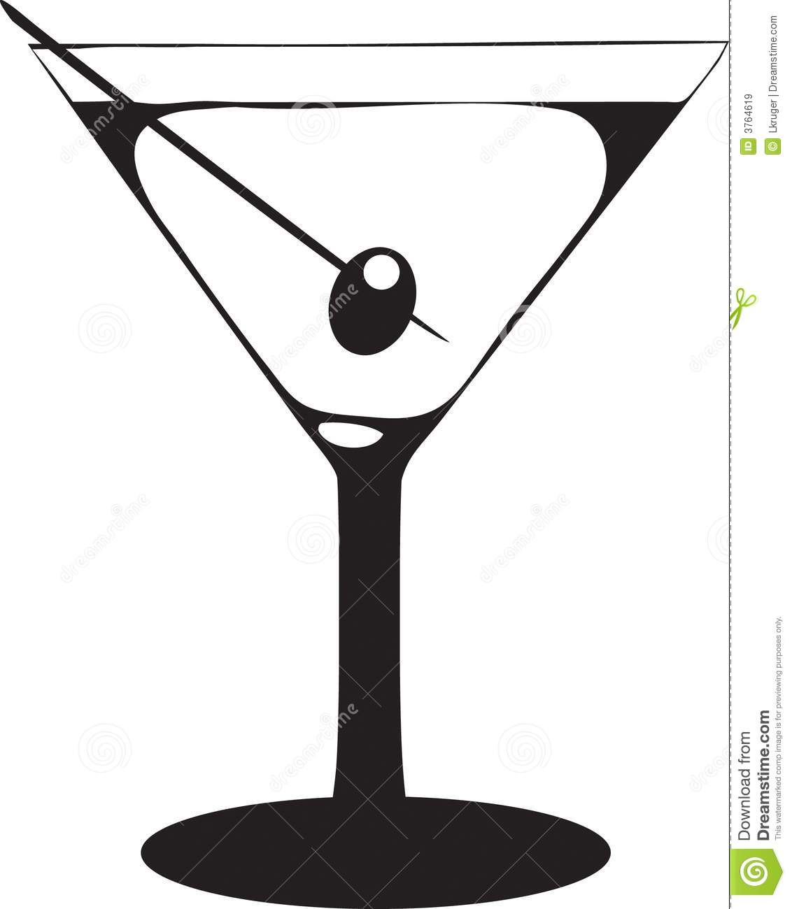 Martini Glass With Olive Royalty Free Stock Images Image 3764619
