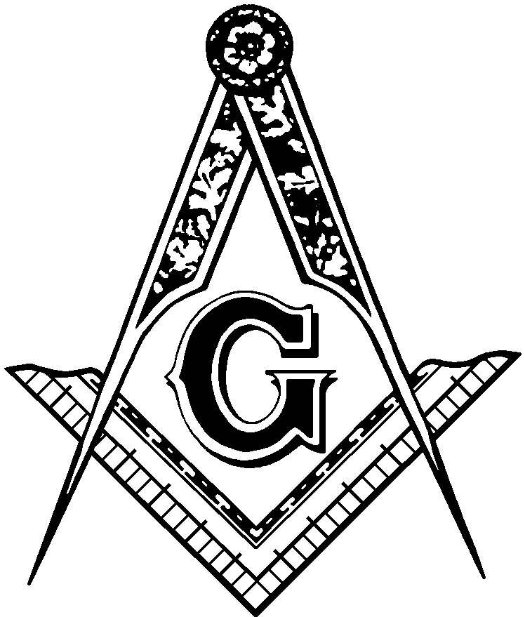 Masonic Clip Art and Freemason Symbols: Square u0026amp; Compasses