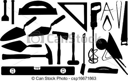 ... masonry - set of masonry tools