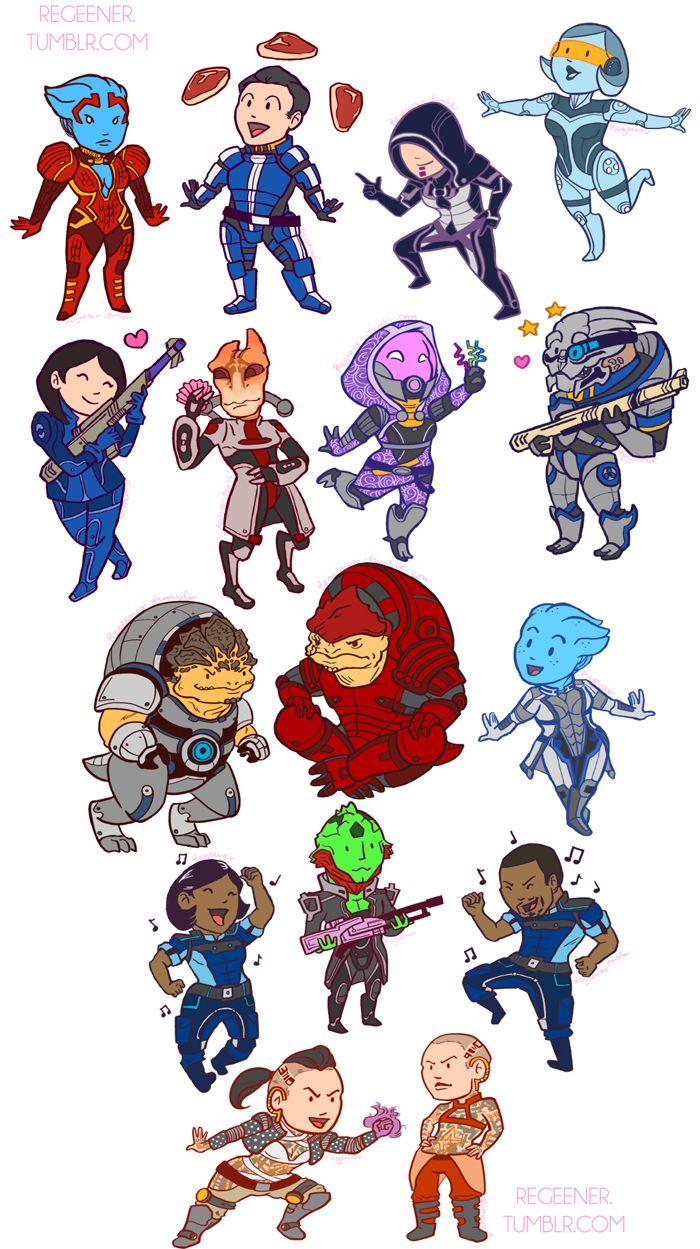 Chibi Mass Effect Squad.