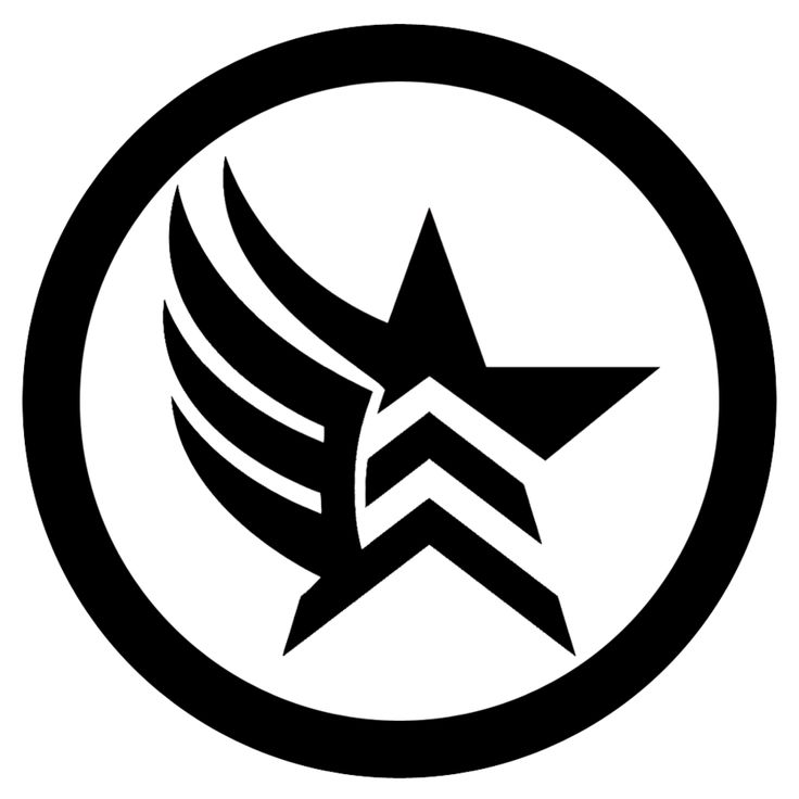 Mass Effect Clipart black and white