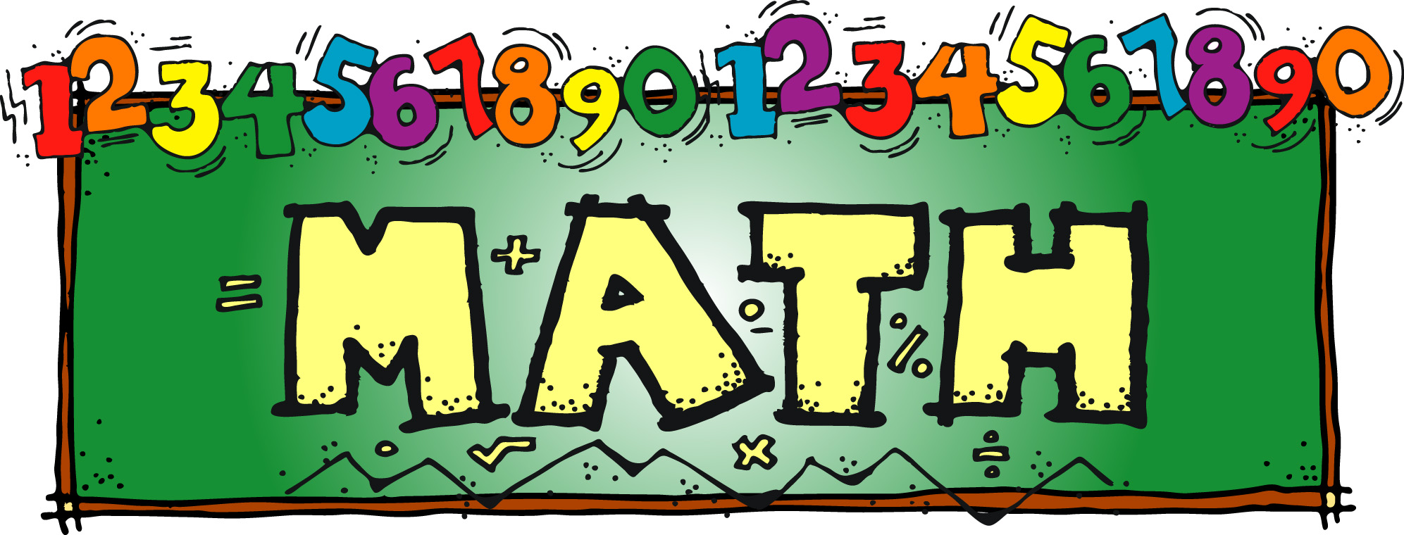 Math clip art black and white free clipart image
