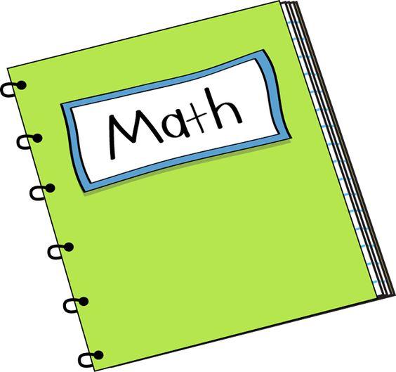 Math Notebook Clip Art - Math Notebook Vector Image