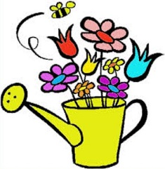 May Flowers and garden watering can