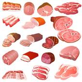 Meat · set of different kinds of meat