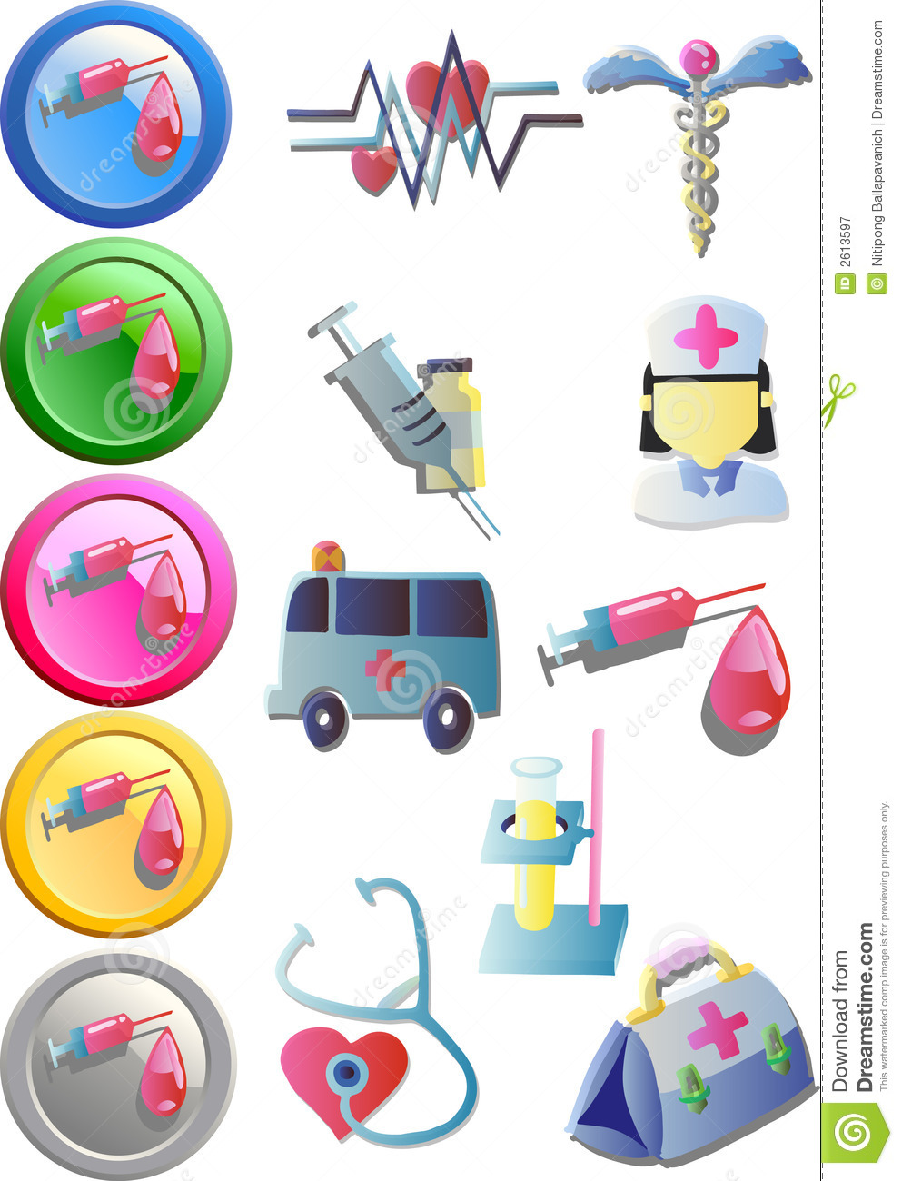 Medical Clip Art (Vector) Stock Vector. Illustration Of First - 2613597