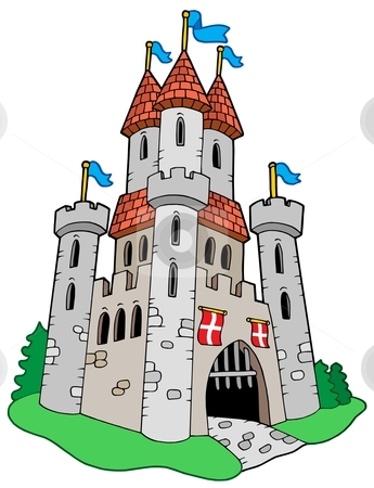Medieval Castle Stock Vector Clipart Medieval Castle Vector