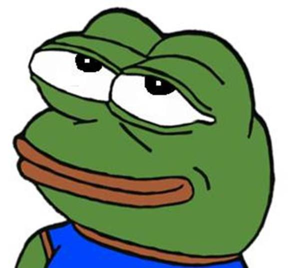 Depressed frog meme clipart