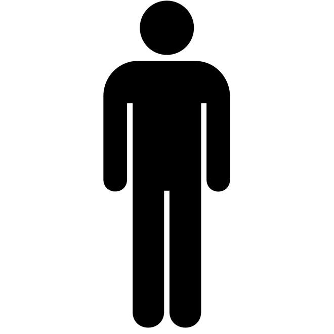 Men Bathroom Sign Clipart