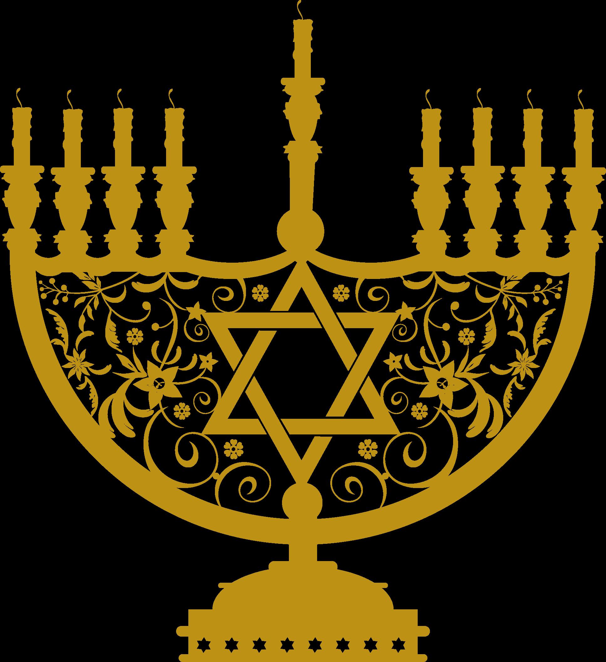 Menorah Gold Clipart