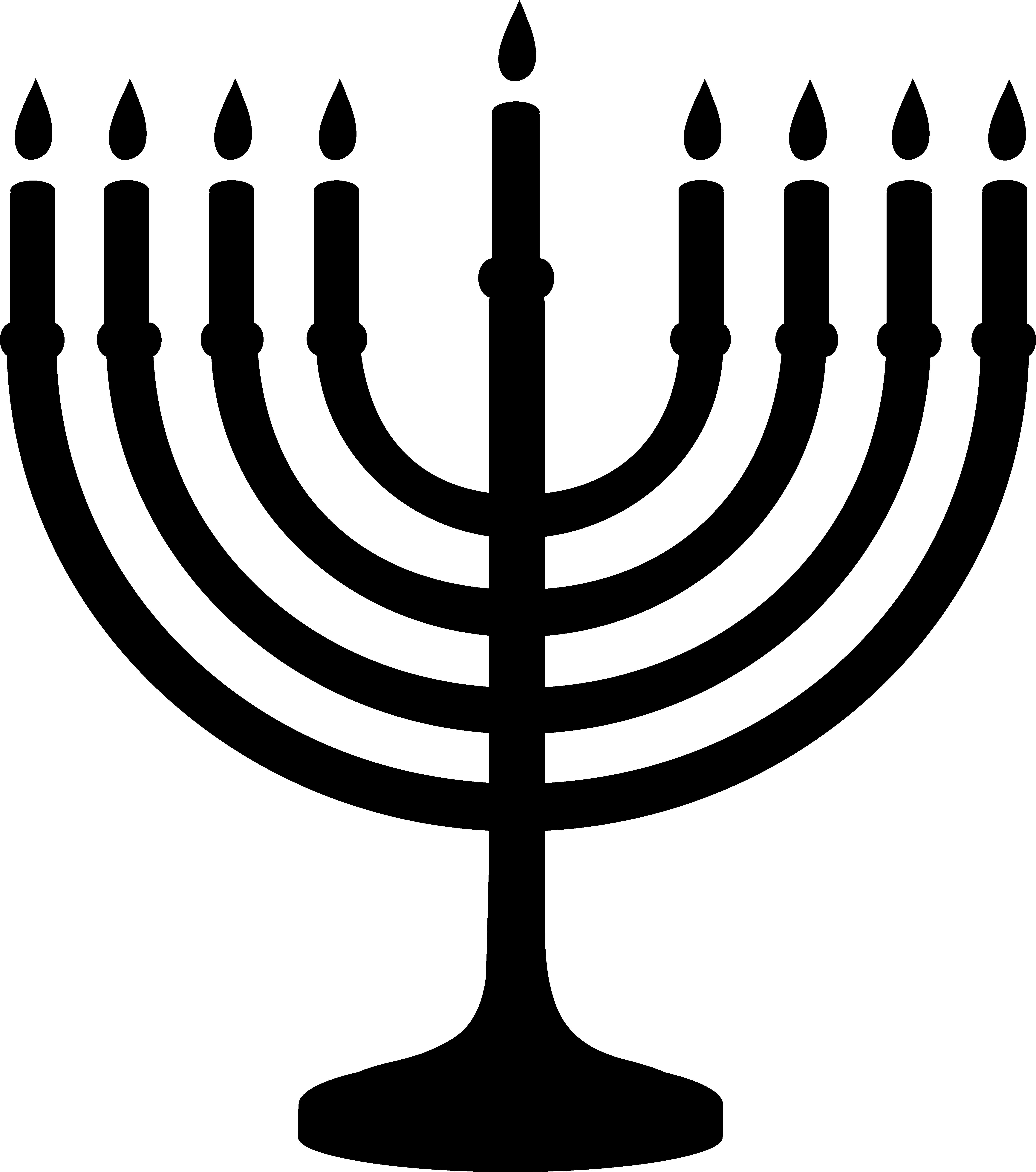 Menorah Silhouette Design