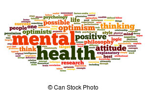 ... Mental health in word tag cloud - Mental health concept in.