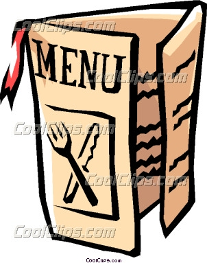 Menu For Restaurants Clipart