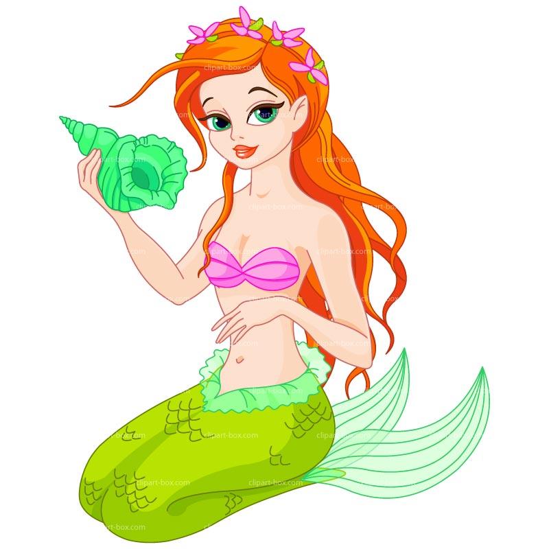 Mermaid clipart kid 3
