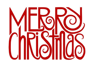 ... Merry Christmas Clipart Words