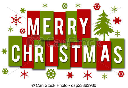 Merry Christmas Red Green . - Merry Christmas Clipart