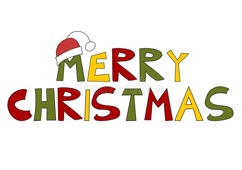 Download Christmas Text: Merry Christmas! Stock Vector - Illustration of  season, humor: