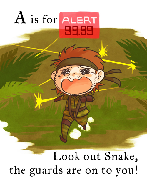 is for ALERT 99.99 Look out Snake, the guards are on to you!