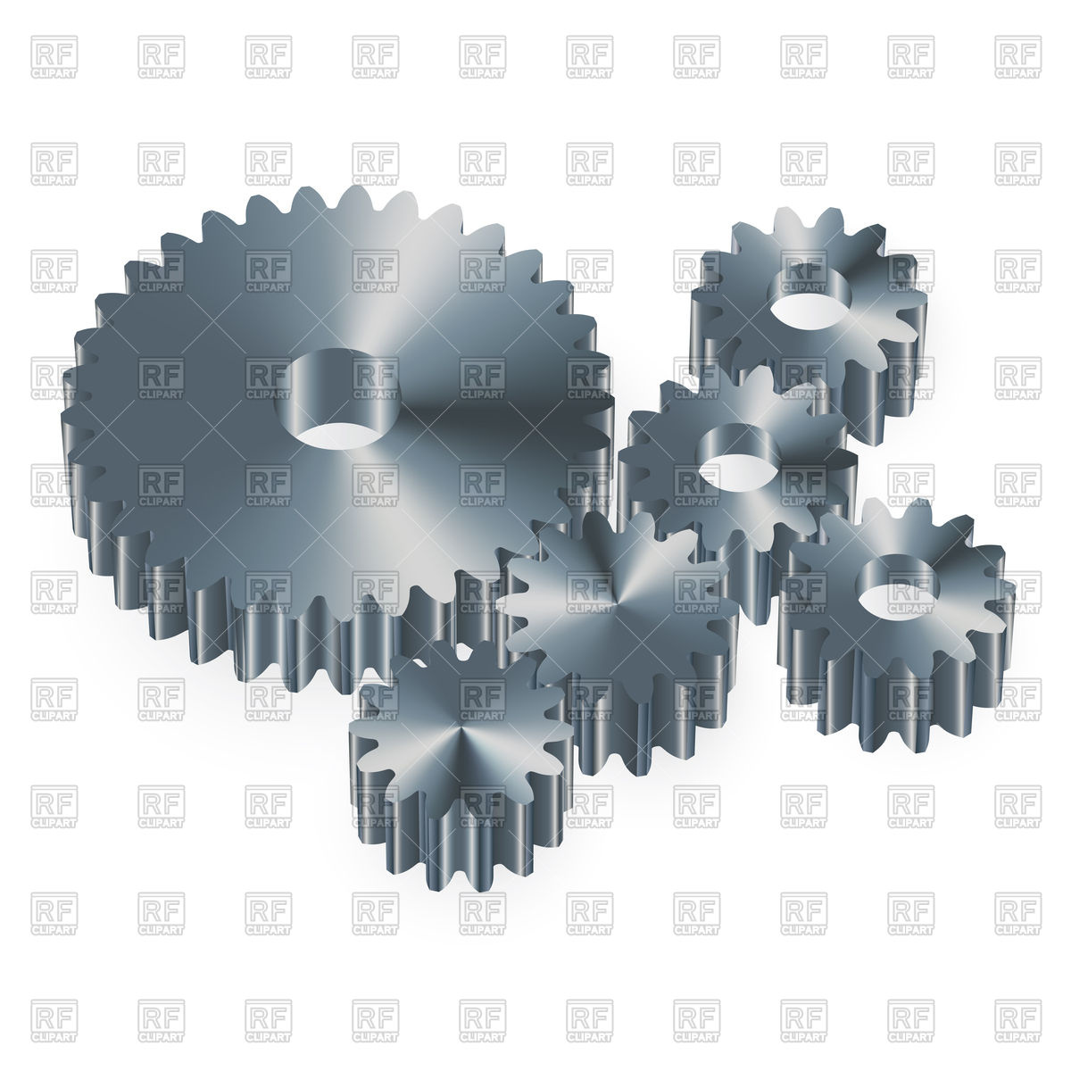 Metal gears on a white background Royalty Free Vector Clip Art