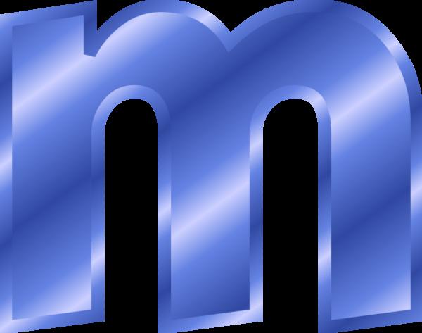 Metallic Purple Letter M Clipart