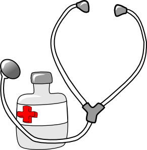Metalmarious Medicine And A Stethoscope Clip Art At Clker Com Vector