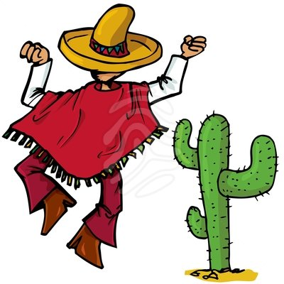 Mexican Clip Art Cartoon Mexican Islolated One White Isolated Clipart