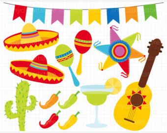 Mexican Fiesta Clipart. Digital Clipart Cinco De Mayo .