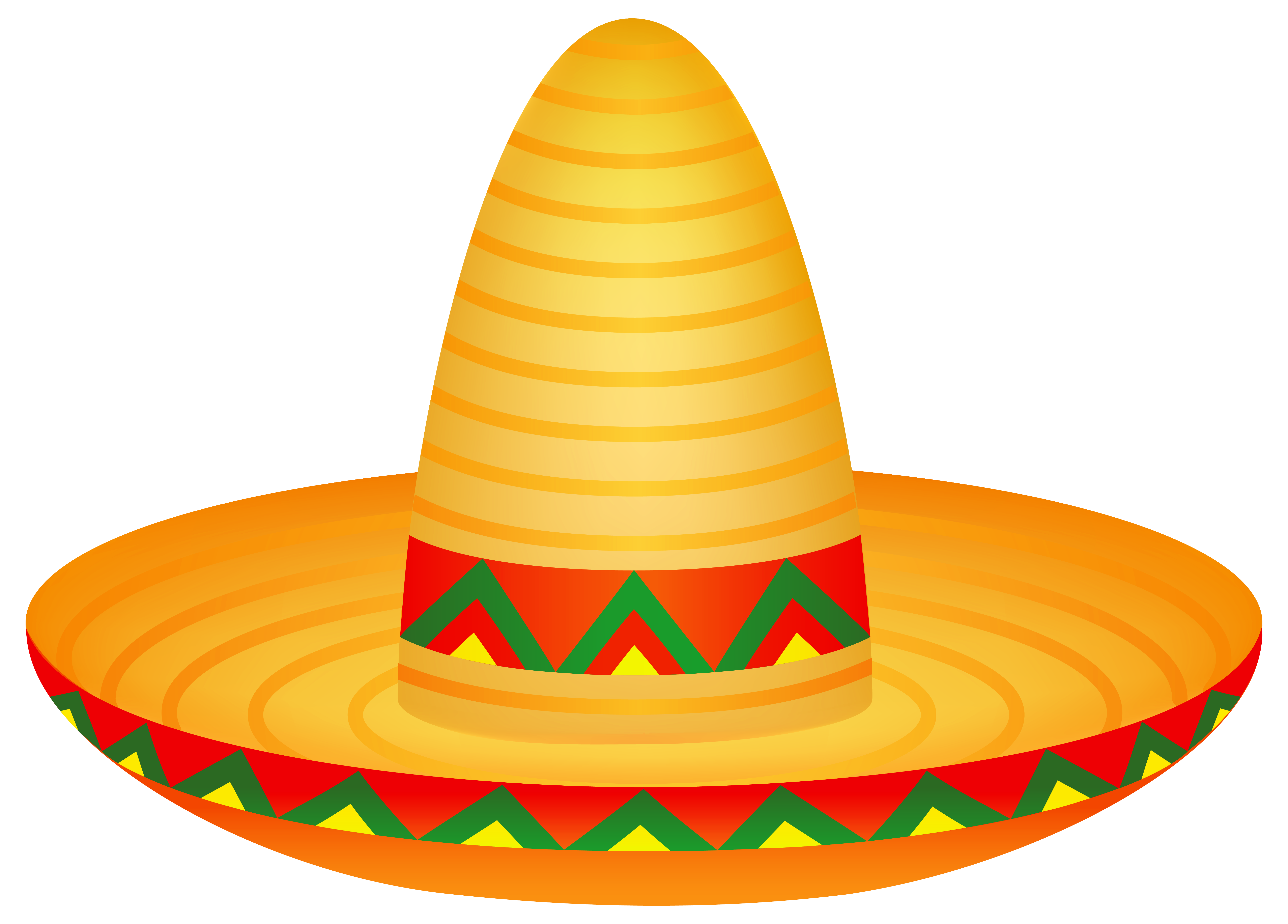 Mexican Sombrero PNG Clipart Image