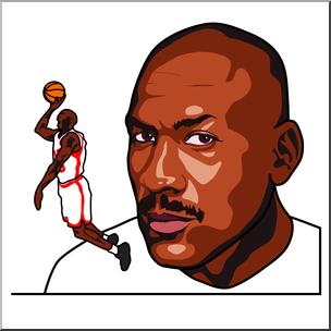 Clip Art: Michael Jordan Color I abcteach clipartlook.com - preview 1