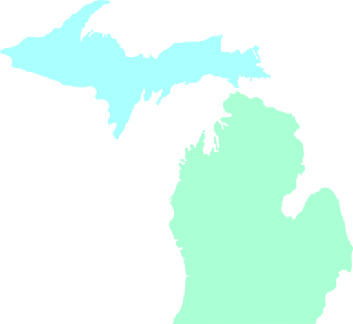 Michigan Map Clean Teal Clip Art Vector Online Royalty Clipart .