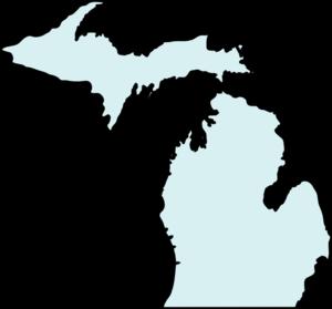 Michigan Mapclean Teal Clip Art