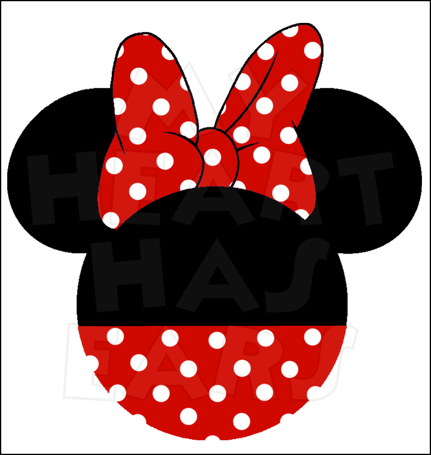 Mickey And Minnie Mouse Head .