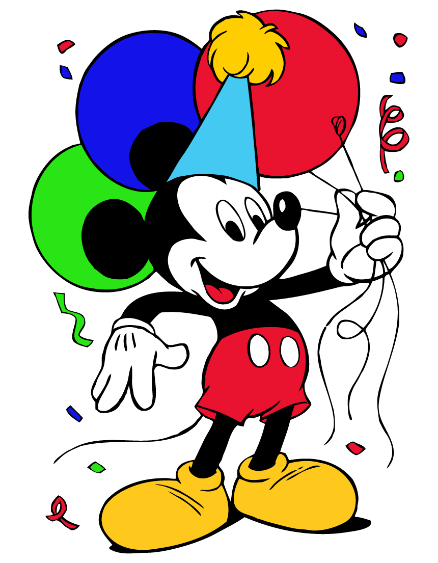 Mickey Mouse Birthday Clipart #1