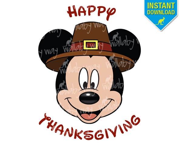 Mickey Mouse Thanksgiving Clipart u0026middot; Popular Items For Thanksgiving Mickey