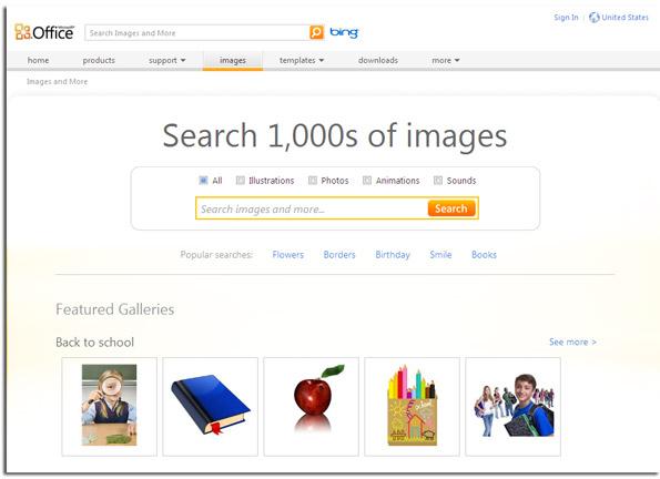 Microsoft Office Free Clip Art. Microsoft Image Gallery