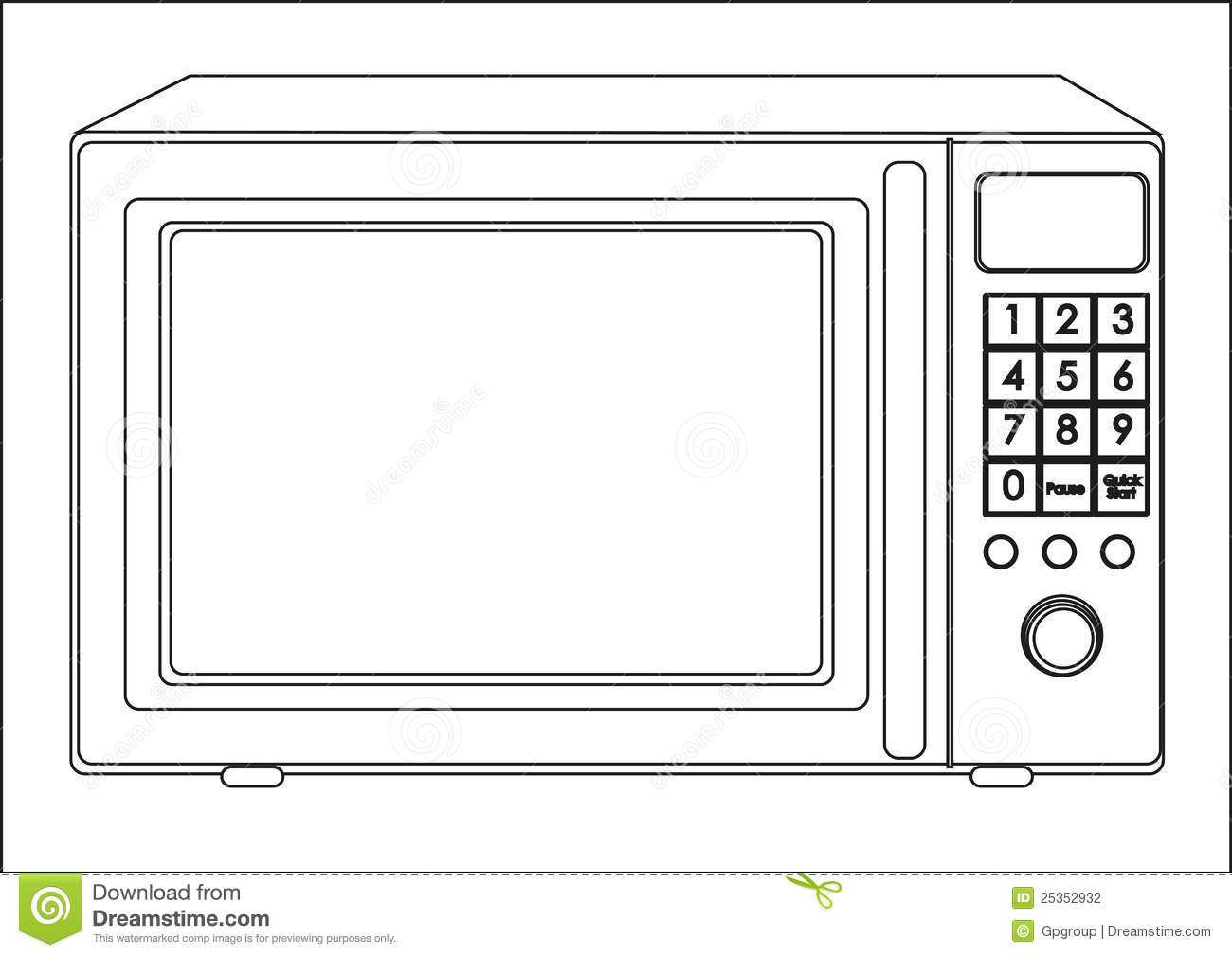 Microwave Clip Art Illustration Of A Microwave