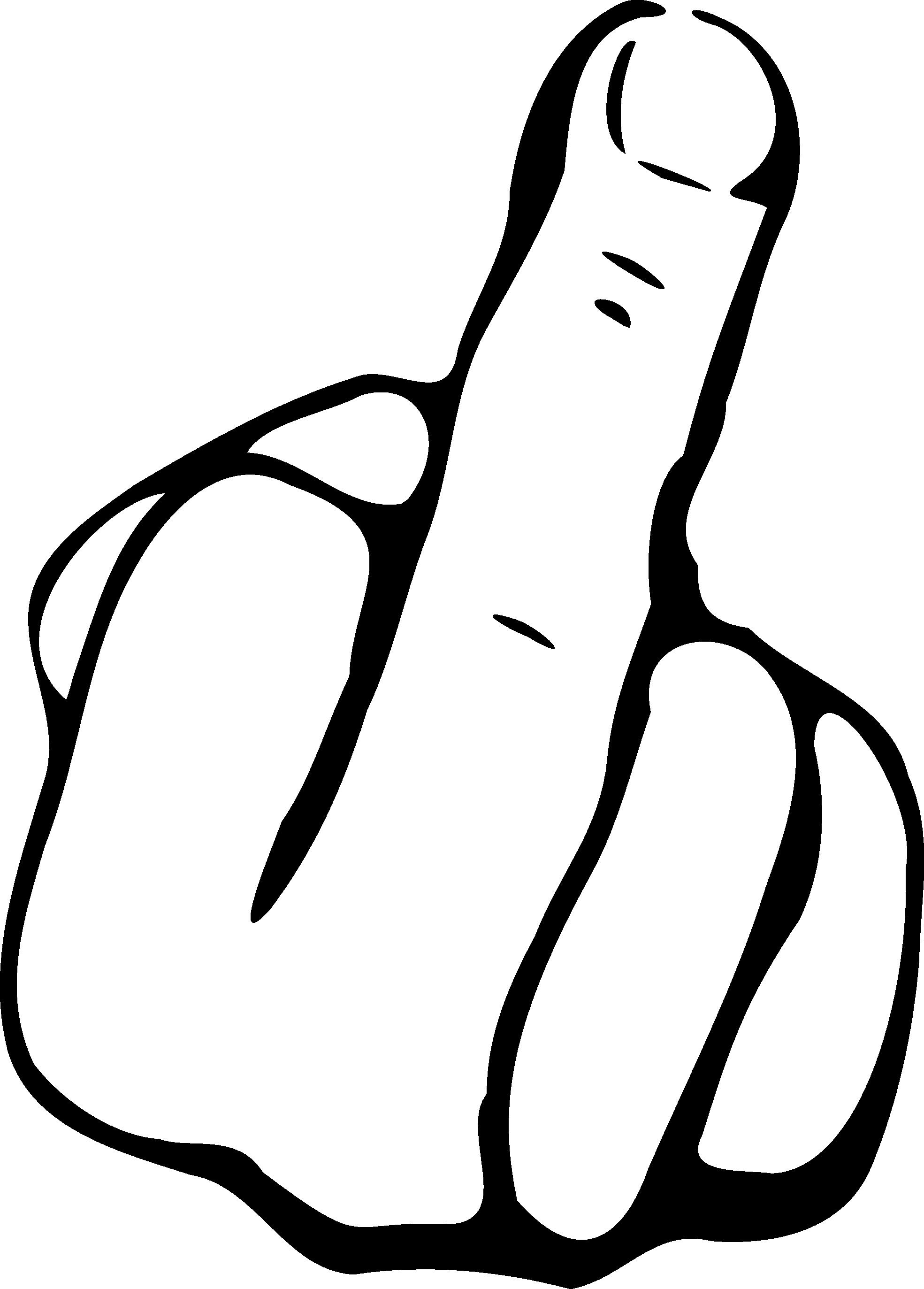 MIDDLE FINGER SIGN - ClipArt Best
