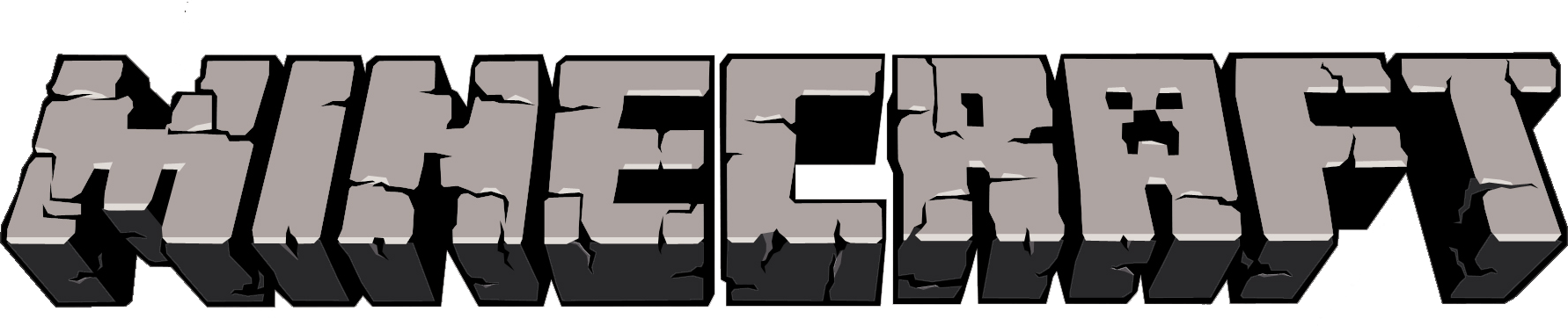 Minecraft Clipart black and white
