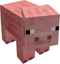 Repin if the pig is one of your favorite minecraft animals
