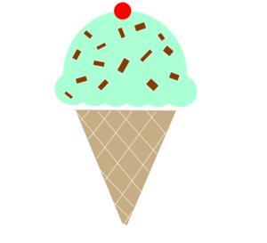 Mint Icecream W/cherry Clip .