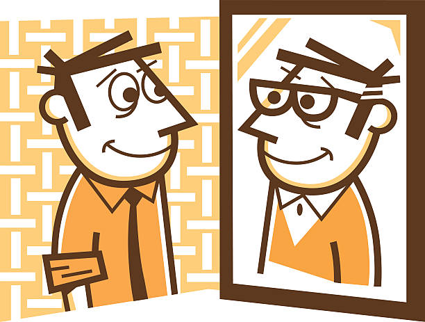 looking in mirror clipart 7