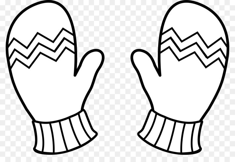 Mitten Glove Line art Clip art - Menu0027s Scarf Cliparts