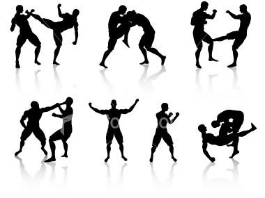 ... mixed martial arts clipart ...