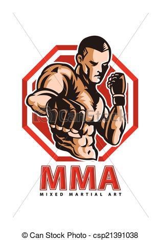 ... MMA fighter - vector illustration of MMA fighter