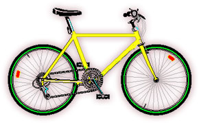 modern bicycle clipart
