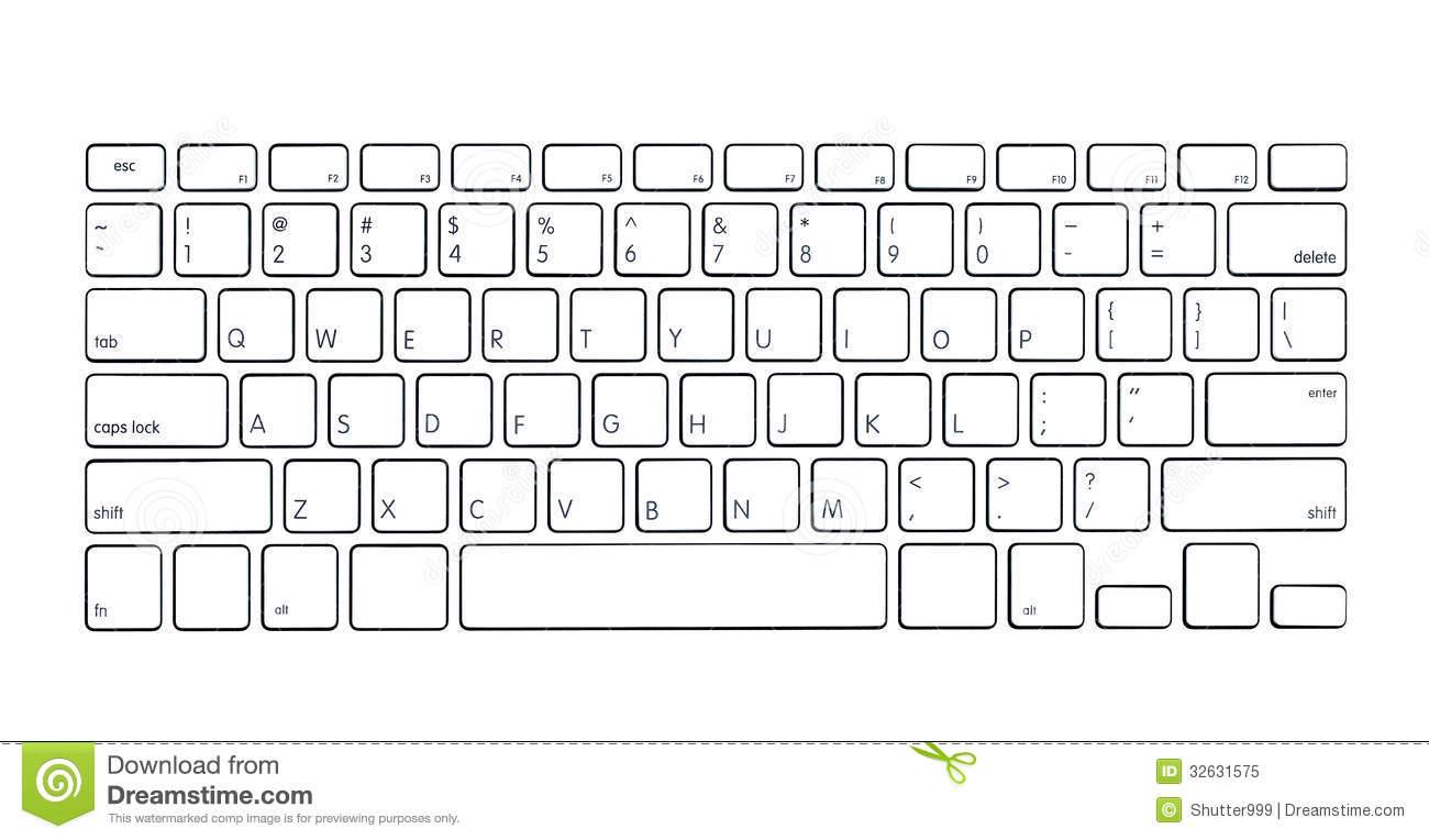 Modern Computer Keyboard Royalty Free Stock Photo Image 32631575