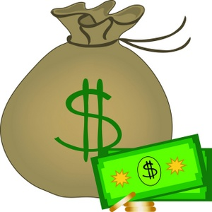 Money bag clip art of money tumundografico