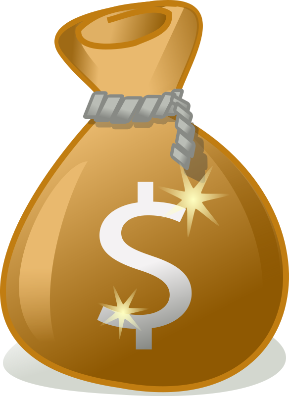 Money bag free to use clipart