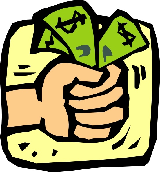 Fist Full Of Money clip art